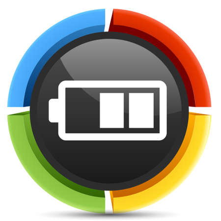 recharging: battery recharging  icon