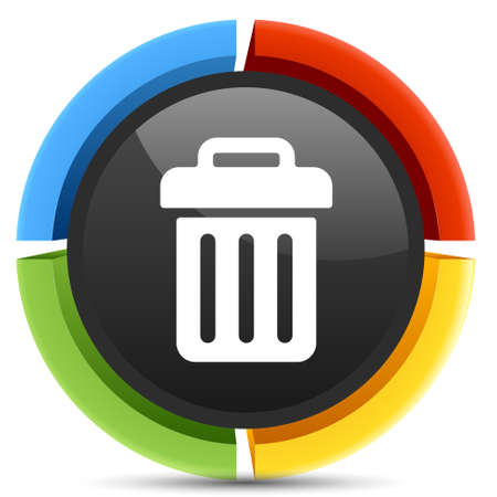 waste basket: bin icon