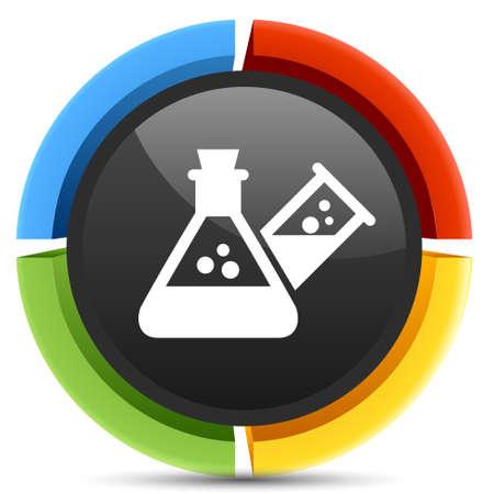 laboratory equipment: laboratory equipment icon Illustration
