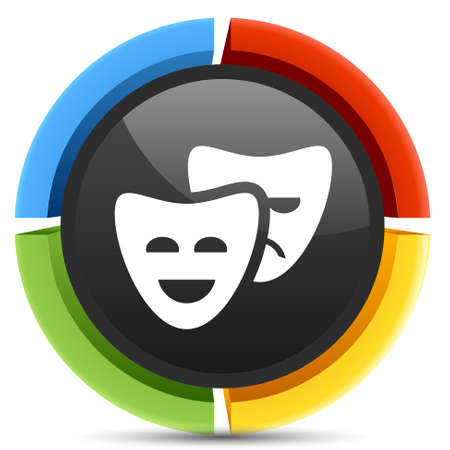 comedy: comedy mask icon