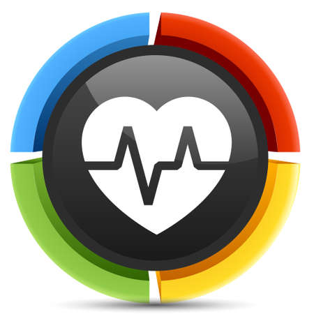 elettrocardiogramma: Icona elettrocardiogramma Vettoriali