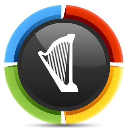 bagpipes: icono arpa Vectores