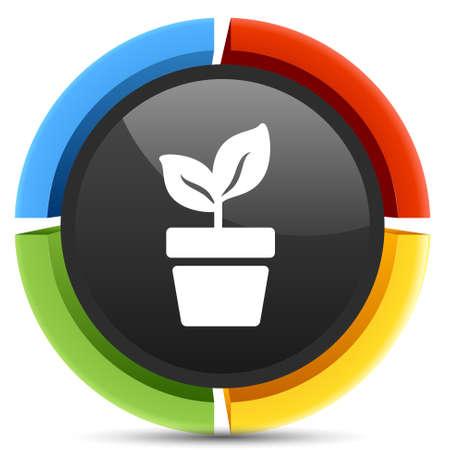 plant pot: plant pot sign