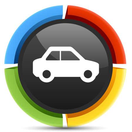 sedan: sedan car icon Illustration