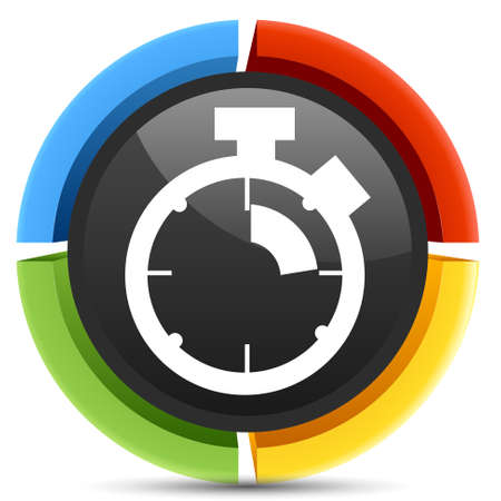 stop watch: stop watch icon Illustration
