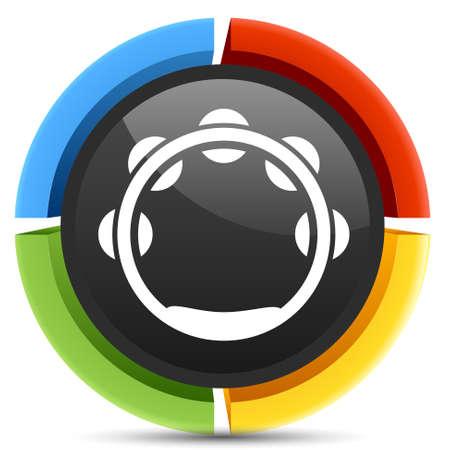 tambourine: icono de pandereta