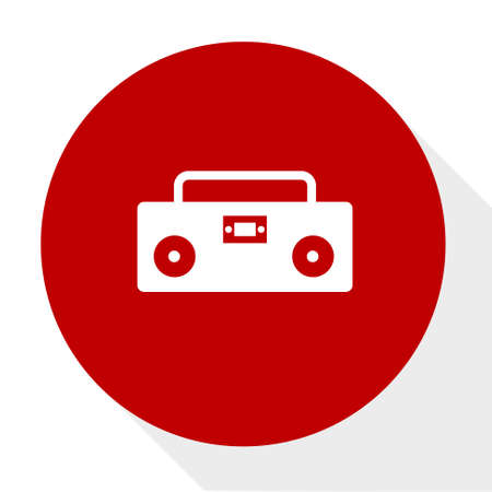 Cassette  player icon. Illustration