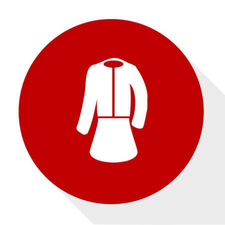 formal women wear icon Illustration