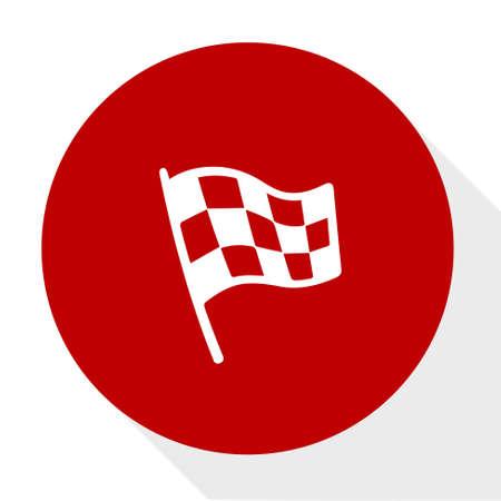 racing flag icon Illustration