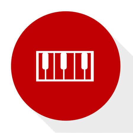 Organ music icon. Illustration