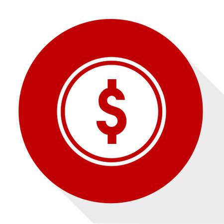 Dollar coins icon.