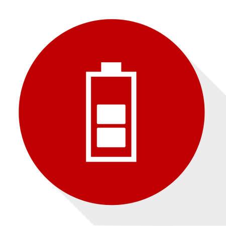 Battery recharging  icon.