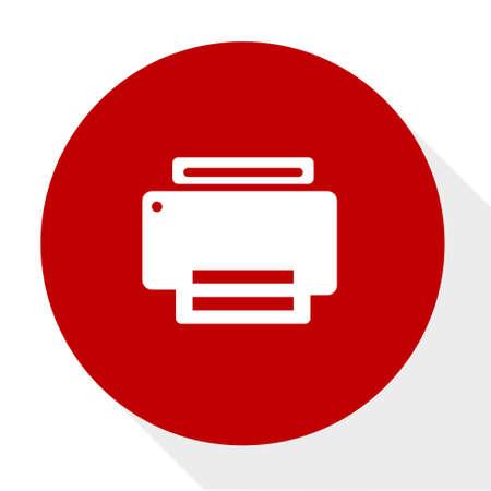 Printer icon illustration. Illustration