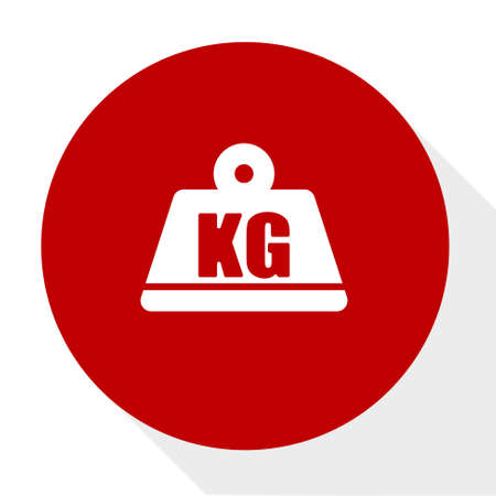 kg weight icon Stock Vector - 81318237