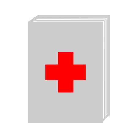 vector medical book icon - health literature, health care information, science education isolated Stock Illustratie