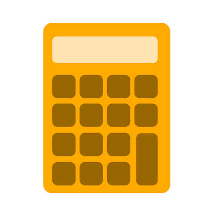 Office, school electronic calculator icon. Simple illustration of office, school electronic calculator vector icon for web