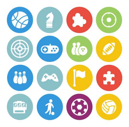 game icons set Ilustración de vector