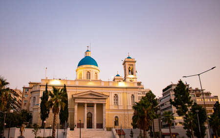 Beautiful church on a summer evening in center of Athens, Greece Reklamní fotografie