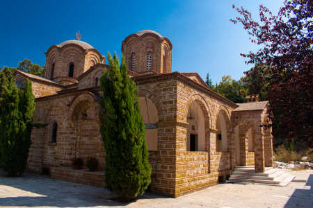 Beautiful church of St. Dionysos on a sunny summer day in Litchoro, Bulgaria Reklamní fotografie