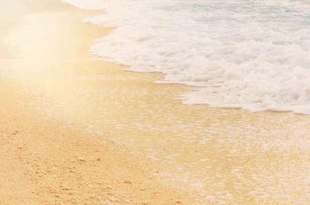 Soft wave on sandy beach. Background, concept for summer season.