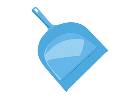 dustpan: Dustpan, Blue dustpan illustration, isolated on white background, vector Illustration