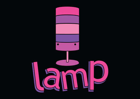 pink lamp: Lamp, pink - purple girly lamp, vector illustration Illustration