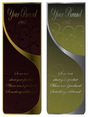 liqueur labels: Labels, Wine labels, Liqueur label, vector Illustration