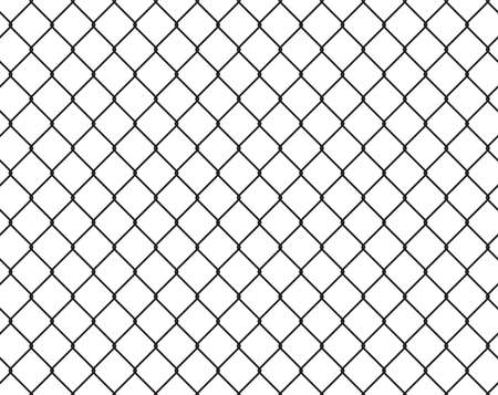 wire fence: Wire fence seamless texture black silhouette, vector illustration