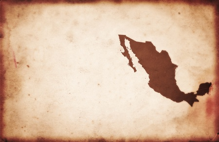 Mexico Map Stock Photos Royalty Free Mexico Map Images And Pictures - Mexico us map old
