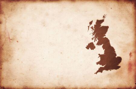 연합 왕국: 영국의 오래 된 빈티지지도 스톡 사진