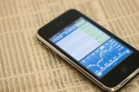 Apple Iphone 3gs Stock Market App Stock Photo - 10622947