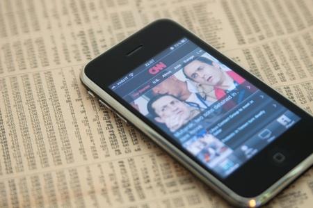 Apple Iphone 3Gs Cnn Il Sole 24 Ore Stock Photo - 10581294