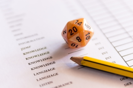 roleplaying: Dices for roleplaying game