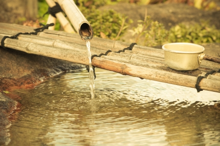 bamboo fountain: Shishi Odoshi Bamboo Fountain