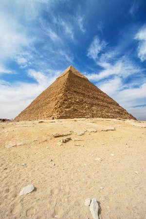 chephren: Pyramids of Giza - Pyramid of Khafre  Chephren in Egypt
