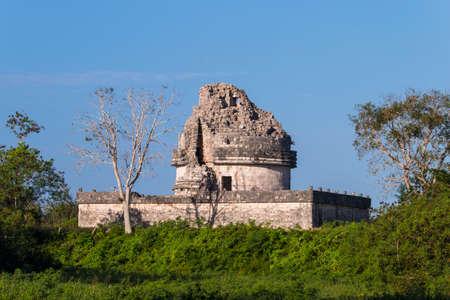 El Caracol observatory temple in Chichen Itza, Mexico photo