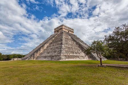 Mexico - Kukulcan pyramid - Maya Pyriamid El Castillo in Chichen Itza photo