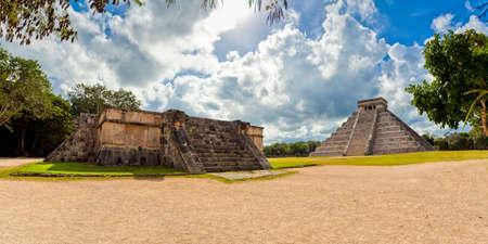 Mexico - Kukulcan pyramid with Venus Platform - Maya Pyriamid El Castillo in Chichen Itza photo