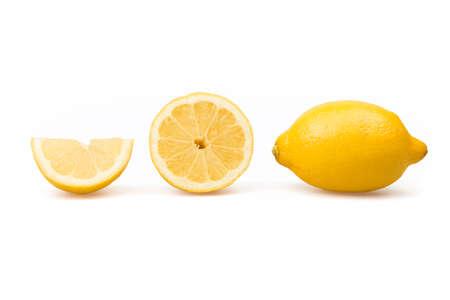 three fresh lemons on white background Reklamní fotografie