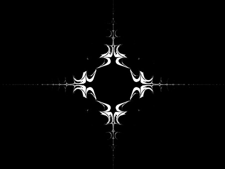 White symbol on a black background - wallpaper