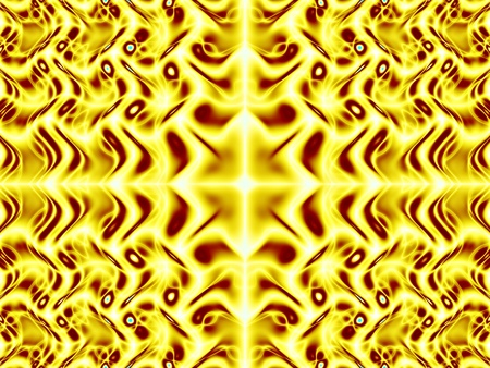 Gold wavelet fractal - wallpaper Stock Photo