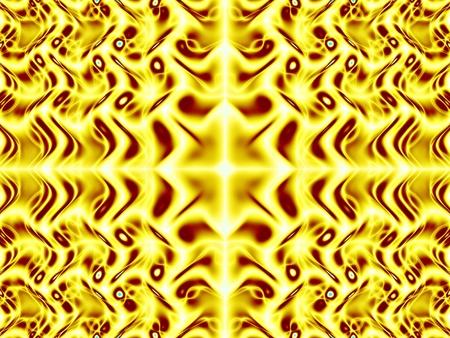 wavelet: Gold wavelet fractal - wallpaper Stock Photo