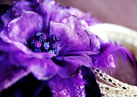 Purple flower with silver bracelet