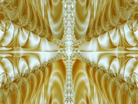 Gold abstract silk