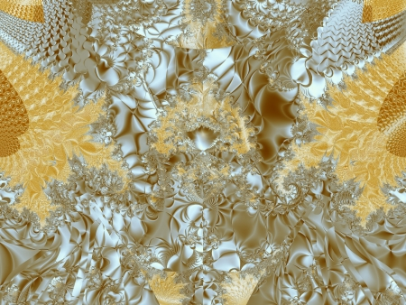 Gold abstract lace
