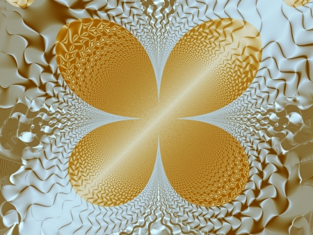 Gold abstract butterfly