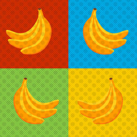 Bananas - Pop art style poster. Design for poster cover brochure. Vector illustration EPS 10