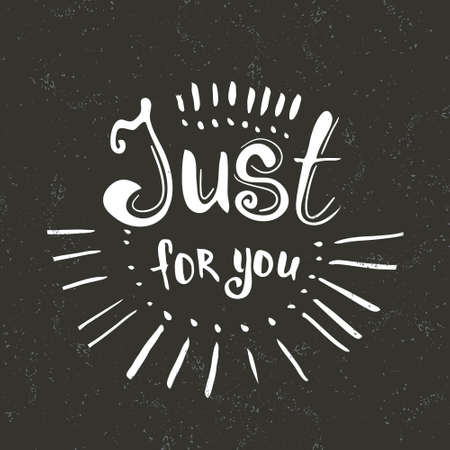 Just for you hand drawn lettering greeting typography vector just for you hand drawn lettering greeting typography vector typography design element for m4hsunfo