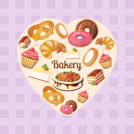blueberry cheesecake: Premium collection of colorful tasty cakes and bakery in heart shape.