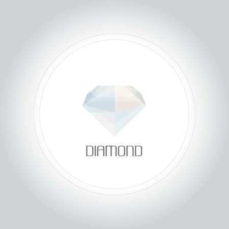 Diamond gem in low lolygon style. Vector illustration for web, company and brand design. Illustration